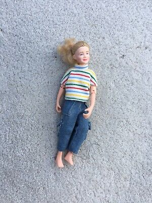 Breyer Horse Traditional Accessory Blond English Rider Doll Jeans Striped Shirt