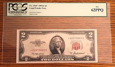 1953A $2 Legal Tender United States STAR Note PCGS62PPQ PCGS 62 PPQ 1953 A