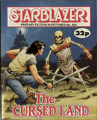 The Cursed Land,starblazer Fantasy Fiction In Pictures,comic,no.254,1989