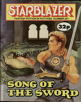 Song Of The Sword,starblazer Fantasy Fiction In Pictures,comic,no.251,1989