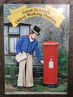 Gb Oldest Working Postbox Fdi Postcard From Collection A8