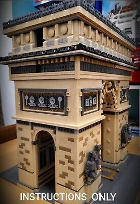 LEGO ARC DE TRIOMPHE instructions for architecture modular MOC Dropbox Required