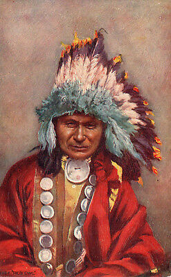 Early Tuck's Indian Chiefs postcard CHIEF RED OWL