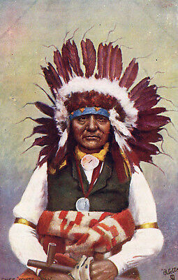 Early Tuck's Indian Chiefs postcard CHIEF WHITE SWAN
