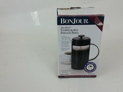 Bonjour Coffee Unbreakable Plastic French Press 33 8 Ounce 1l Ami Matin Black
