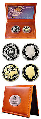 2008 Australia 2 coin proof set International Year of Planet Earth