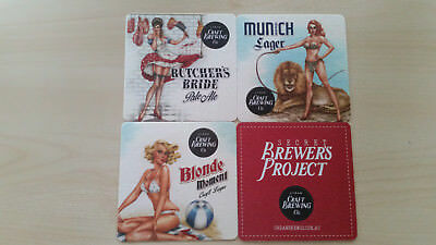 4 Retro style microbrewery (Craft Brewing Co.) beer coasters from Australia