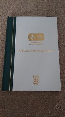 FA Cup Final 2018 Limited Edition Programme Chelsea v Manchester United & Flag