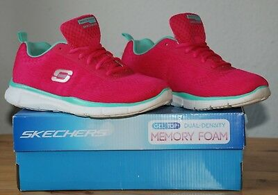 SKECHERS Damen Schuhe Gel Top Memory Foam Skech-Knit Rosa Gr: 39 / 26 cm   (285)
