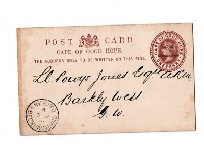 1897 British Bechuanaland postal stationary postcard overprinted on COGH used