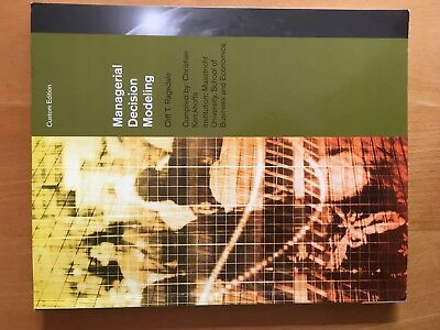 Managerial Decision Modeling von Cliff T. Ragsdale, compiled by C. Kerckhoffs