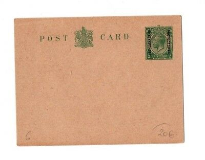 1921 GV Bechuanaland Protectorate postal stationary overprinted postcard
