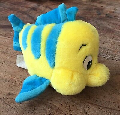 Disney Store - 'Flounder' From The Little Mermaid - Soft Toy