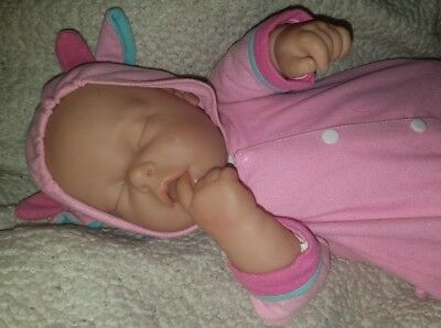 Berenguer Sleeping/Smiling Baby Doll 19 Inches. Sweet Dreams.