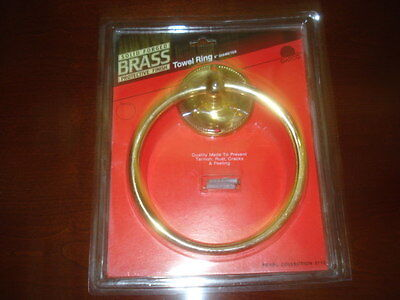 Solid Brass Towel Rings- Price reduced-- Lot of four rings