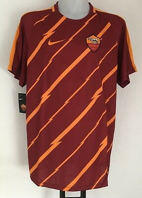 A S Roma 2016/17 S/s Pre-Match Shirt By Nike Size Adults Xxl Brand New With Tags