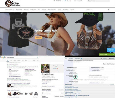 Show Me Country™Trademarked Brand E commerce Website For Sale Turn Key