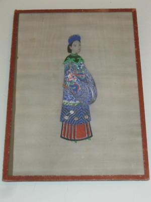 Stunning Antique Chinese Framed Silk Painting