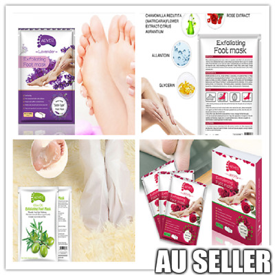 1-10Pr Exfoliating Peel Foot Mask Baby Soft Feet Remove Callus Hard Dead Skin ON