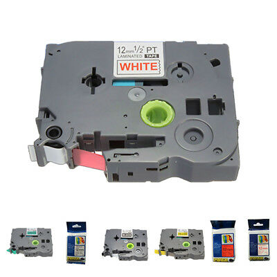 Label Tape Cartridge - 12mm (1/2inch) x 8M for Brother TZ P-Touch Printer C3I6