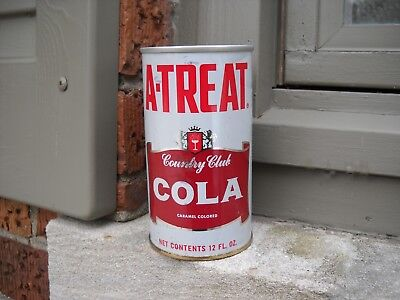 A -Treat Country Club Cola Soda Can - Empty 12 oz pop can, Allentown, PA. 18103