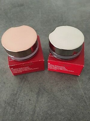 Clarins Lot De 2 Creme Poudre Yeux Ombre Iridescente Silver Ivory Silver Green