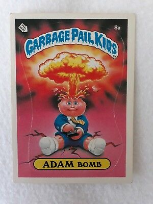 Garbage Pail Kids. Adam Bomb 8a Card. Matte. Check list. Original Series 1. 1985