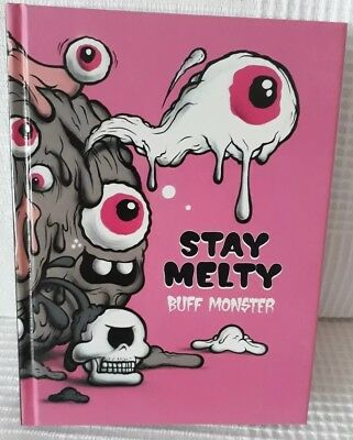 Buff Monster .Stay Melty Hard Cover Book. Signed. Garbage Pail Kids. Ice Cream.