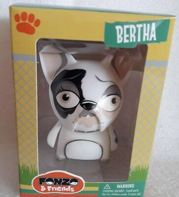 Fonzo & Friends  Bertha. new. sealed. kidrobot Dunny. French Bulldog. Funko. Dog
