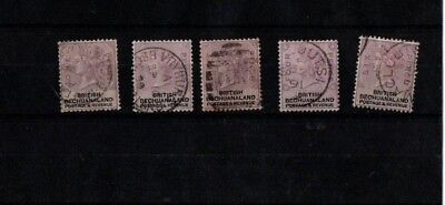 1888 Queen Victoria British Bechuanaland  SG 10-14 used some good cds