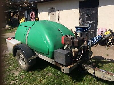 Western Bowser Tow Along Diesel Pressure Washer Jetwash PLEASE LOOK