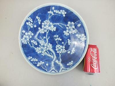 A Chinese Prunus Decorated Small Porcelain Charger  19Th Century