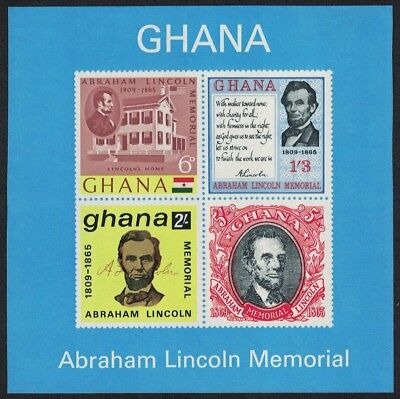 Ghana Death Centenary of Abraham Lincoln MS SG#MS376a