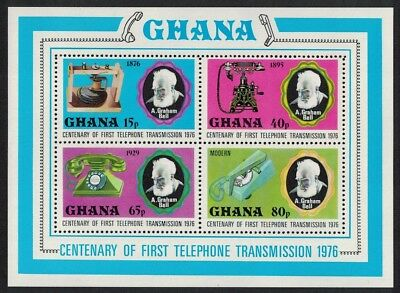 Ghana A. Graham Bell Centenary of Telephone MS SG#MS795