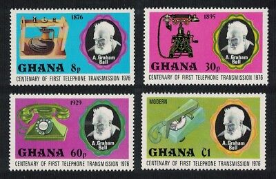 Ghana A Graham Bell Centenary of Telephone 4v SG#791-794