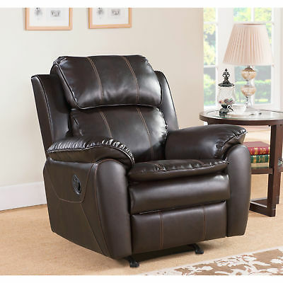 Astonishing Abbyson Harbor Dark Brown Leather Rocker Recliner Chair Gmtry Best Dining Table And Chair Ideas Images Gmtryco