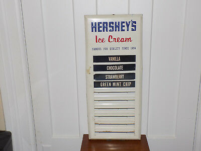 Hershey's Ice Cream Flavor Embossed Metal Sign