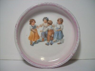 Antique Baby Plate - Ring Around the Rosy