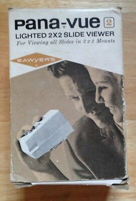 Vintage Sawyer's Pana-vue 2 Lighted 2 x 2 Slide Viewer With Original Box