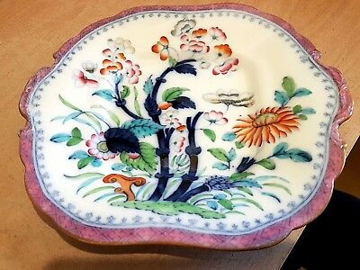 Antique Minton&Co Hand Finished Serving Plate. Society of Arts Prize Pattern.VGC