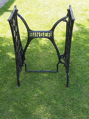 Vintage Singer Sewing Machine table cast iron base