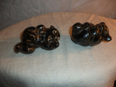 Two Royal Copenhagen Porcelain Bear Cubs, Brown 21434 & 21432, Ex Condition