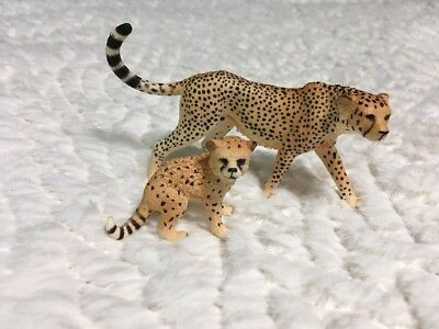 Schleich Am Limes Cheetah with Cub Figures Toys Figurines Retired