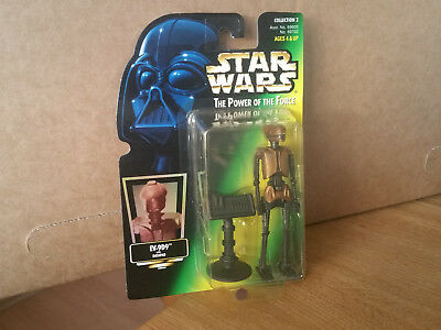 Star Wars POTF auf seltener Holo Karte - EV-9D9 with Data Pad Jabba´s Droid  OVP
