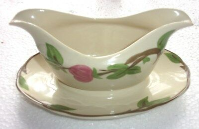 Franciscan Desert Rose Gravy Boat with Attached Underplate
