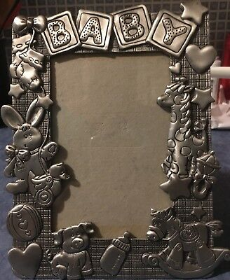 Baby Picture Frame Pewter with Baby Toys & Decorations