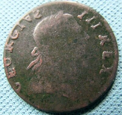 "1771 King George III Halfpenny - Non Regal ""Wood 42"" Blacksmith Token Related"