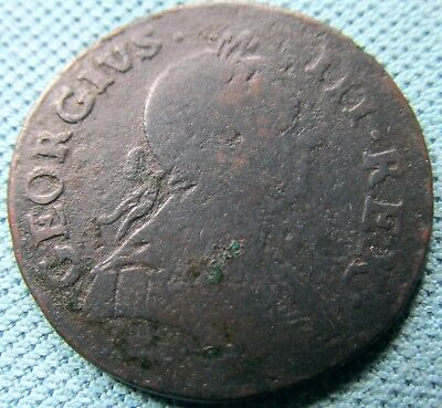 1775 King George III British US Colonial Halfpenny Non Regal - Neat Non Regal