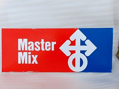 vintage MASTER MIX feed seed ADVERTISING SIGN agriculture farm barn $9.95 NO RSV