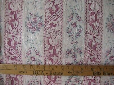 ANTIQUE Vintage FRENCH FABRIC MATTRESS TICKING / CUSHION COVER Crafts c1910-1930